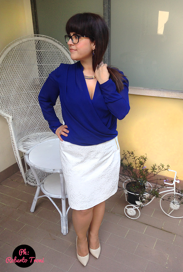 curvy outfit cerimonia occasione speciale plus size girl woman women h&m skirt blouse blazer